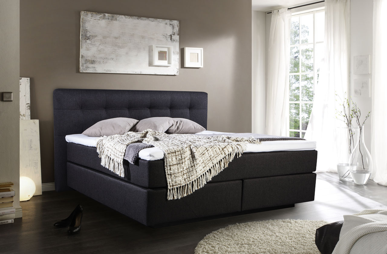 boxspringbett posio. Black Bedroom Furniture Sets. Home Design Ideas